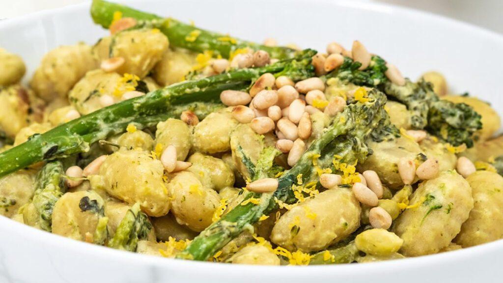 Ñoquis cremosos de brócoli