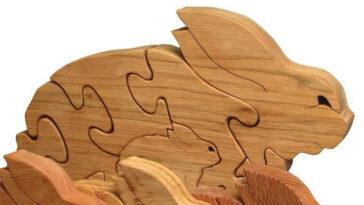Conejitos madera